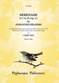 Brahms: Serenade No. 1 in D, Op. 11 (Score only) [2 vln version]