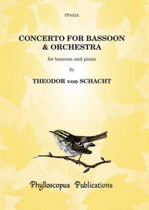 Schacht: Concerto for Bassoon and Orchestra - Solo bassoon and piano reduction