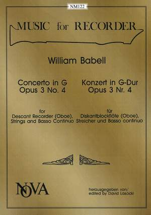 Babell: Concerto in G