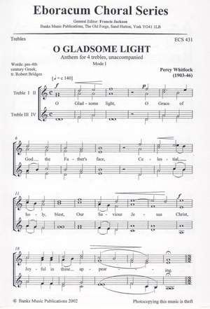 Whitlock: O Gladsome Light