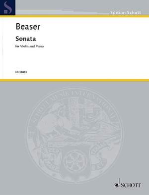 Beaser, R: Sonata for Violin and Piano