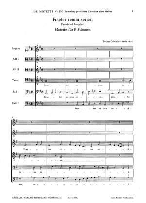 Calvisius: Praeter rerum seriem