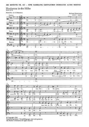Praetorius: Hosianna in der Höhe (F-Dur)