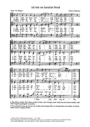 Bach, JS: Herr Jesu Christ, dich zu uns wend; Lossius: Gloria; Stobaeus: Ich hab ein herzlich Freud