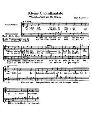 Kappesser: Halleluja; Wachet auf
