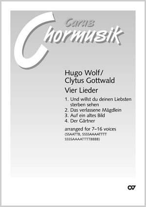Wolf: Vier Lieder (arr Gottwald)