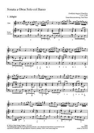 Homilius: Sonate für Oboe und Basso continuo (F-Dur)