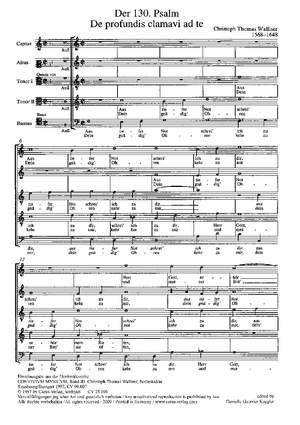 Walliser: Der 130. Psalm Product Image