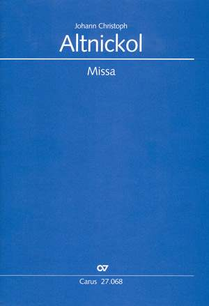 Altnickol: Missa  in d
