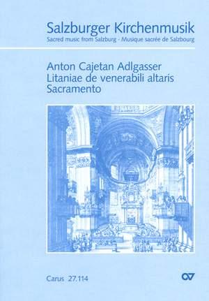 Adlgasser: Litaniae de venerabili altaris Sacramento