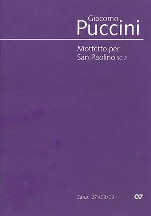 Puccini: Mottetto per San Paolino