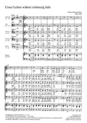 Bach, JM: Unser Leben währet siebenzig Jahr