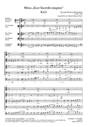 "Palestrina: Missa ""Ecce Sacerdos magnus"""