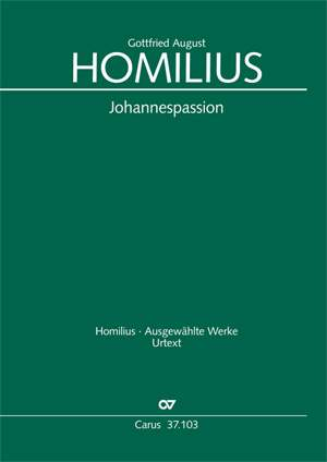 Homilius: Johannespassion (HoWV I.4)
