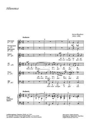 Bruckner: Afferentur (WAB 1; F-Dur)