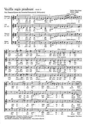 Bruckner: Vexilla regis prodeunt (WAB 51; phrygisch)