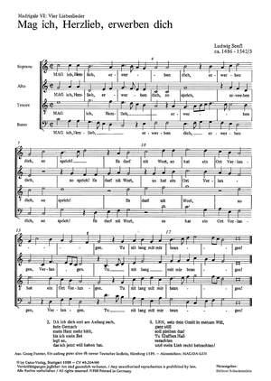 Hassler: Vier Madrigale (Liebeslieder) von Hassler, Senfl, Steurlein
