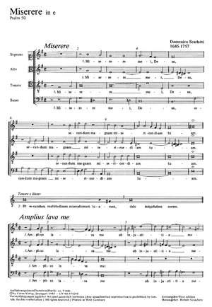 Scarlatti: Miserere in e (e-Moll)