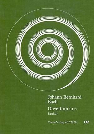 Bach, JB: Orchestersuite Nr. 3 (e-Moll)