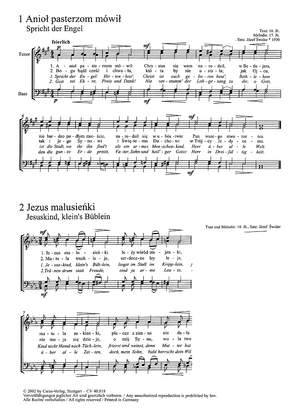 Swider: Zwölf polnische Weihnachtslieder für Männerchor a cappella
