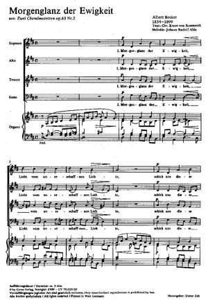 Becker: Morgenglanz der Ewigkeit (Op.63 no. 2)