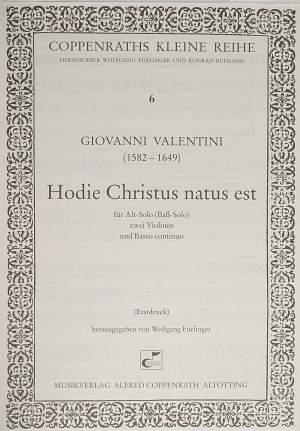 Valentini: Hodie Christus natus est