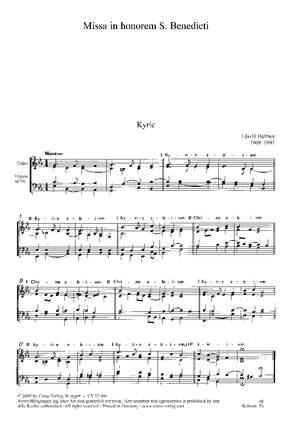Halmos: Missa in honorem S. Benedicti (Es-Dur)