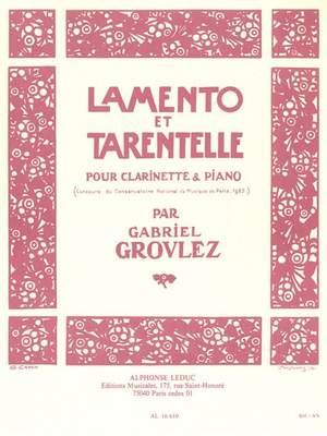 Gabriel Grovlez: Lamento Et Tarentelle
