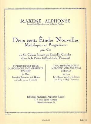Maxime Alphonse: 200 Etudes Nouvelles 5