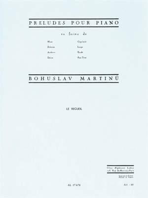 Bohuslav Martinu: Préludes