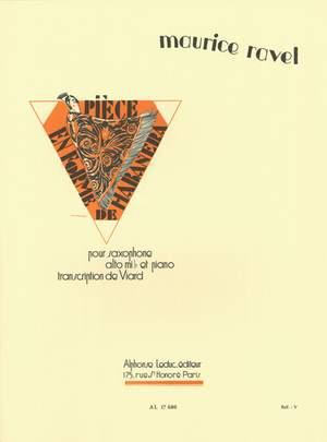 Ravel: Pièce en Forme de Habañera