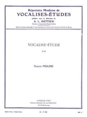 Francis Poulenc: Vocalise-Etude