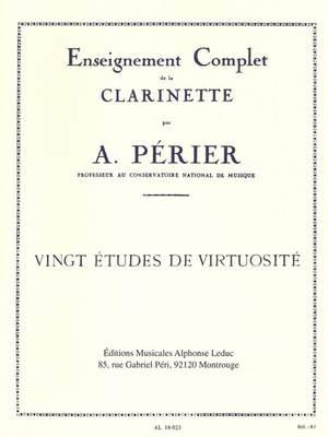 Perier: 20 Etudes De Virtuosite