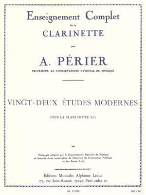 Auguste Périer: 22 Etudes modernes
