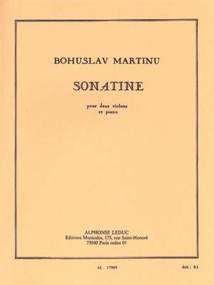 Bohuslav Martinu: Sonatine For Two Violins And Piano H198