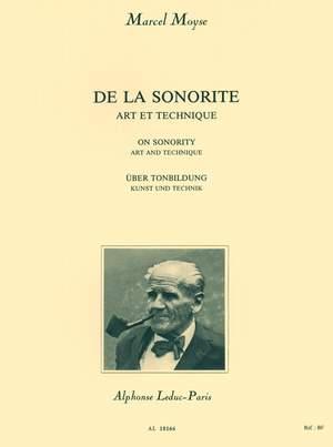 Marcel Moyse: De la Sonorité - Art et Technique