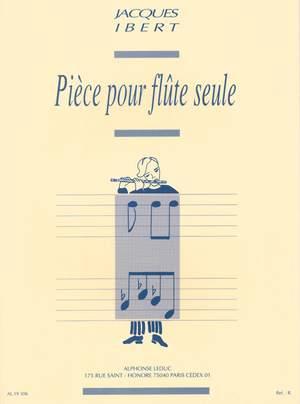 Jacques Ibert: Pièce For Solo Flute