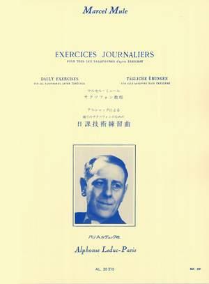 Marcel Mule: Exercices journaliers d'après Terschack