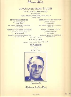 Marcel Mule: 53 Etudes 1, d'après Boehm, Terschak et Fürstenau