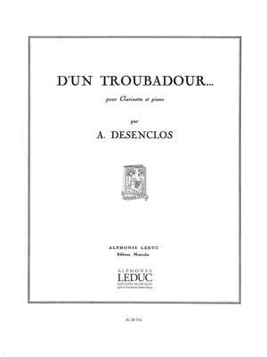 Alfred Desenclos: D'Un Troubadour
