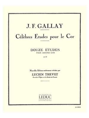 Jacques-François Gallay: 12 Etudes pour 2ème Cor Op.57