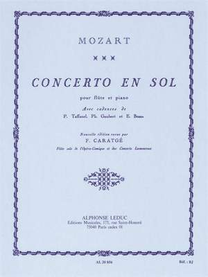 Wolfgang Amadeus Mozart: W.A. Mozart Concerto In G