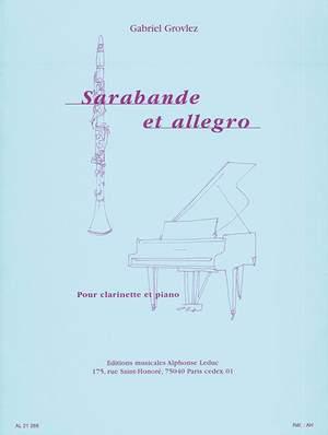 Gabriel Grovlez: Sarabande et Allegro pour clarinette et piano