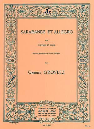 Gabriel Grovlez: Sarabande et Allegro for Oboe and Piano