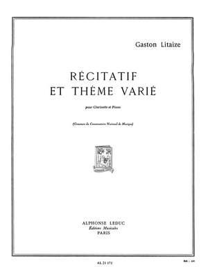 Litaize: Recitatif Et Theme Varie