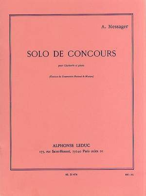 André Messager: Solo De Concours