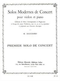 Maurice Hauchard: Solo Moderne De Concert N01