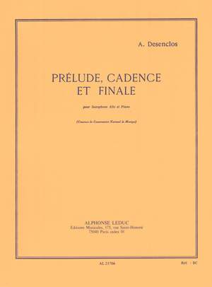 Alfred Desenclos: Prelude Cadence Et Finale