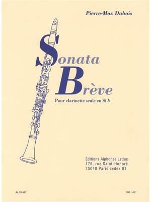 Pierre-Max Dubois: Sonata Brève For Clarinet Solo