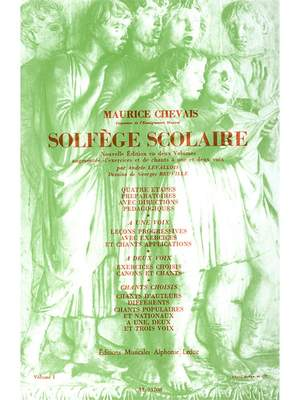 Maurice Chevais: Maurice Chevais: Solfege scolaire Vol.1